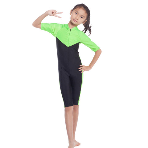 Musilim Swimwear Swimsuit Burqini hw20B Child   green   S - Mega Save Wholesale & Retail - 1