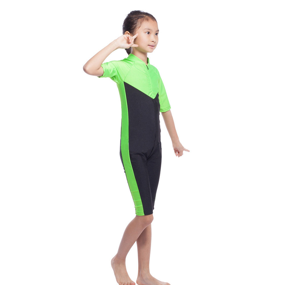 Musilim Swimwear Swimsuit Burqini hw20B Child   green   S - Mega Save Wholesale & Retail - 2
