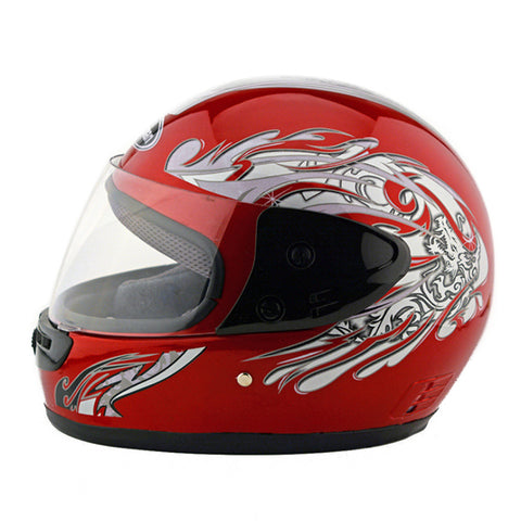 Motorcycle Motor Bike Scooter Safety Helmet 101    red - Mega Save Wholesale & Retail - 1