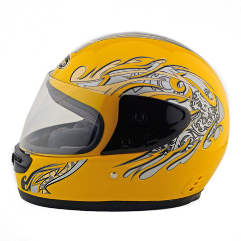 Motorcycle Motor Bike Scooter Safety Helmet 101    yellow - Mega Save Wholesale & Retail - 1