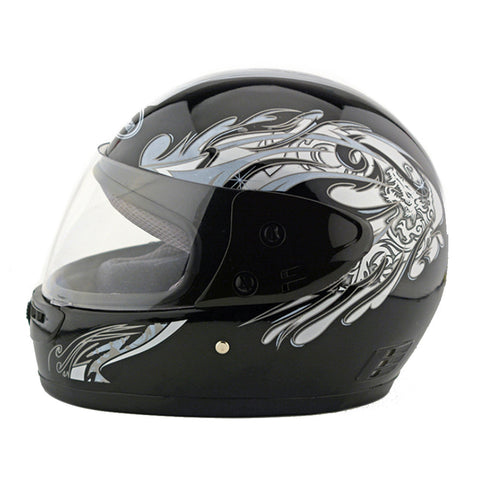 Motorcycle Motor Bike Scooter Safety Helmet 101    bright black - Mega Save Wholesale & Retail - 1