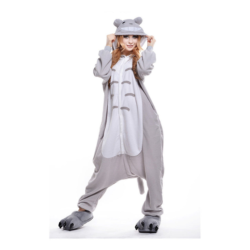 Unisex Adult Pajamas  Cosplay Costume Animal Onesie Sleepwear Suit Totoro - Mega Save Wholesale & Retail