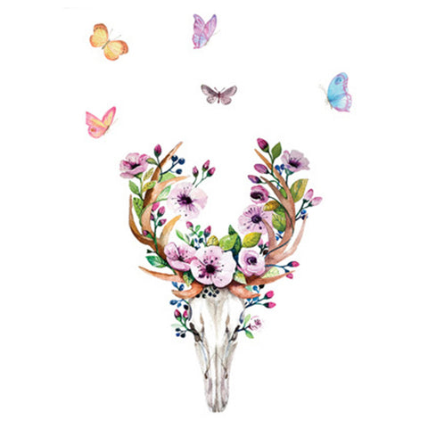 Creative Wallpaper Wall Sticker Plum Sika Deer PVC - Mega Save Wholesale & Retail - 1