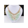 European Fashionable Big Brand Necklace Foreign Trade Water Cube Crystal Necklace   pink - Mega Save Wholesale & Retail - 2