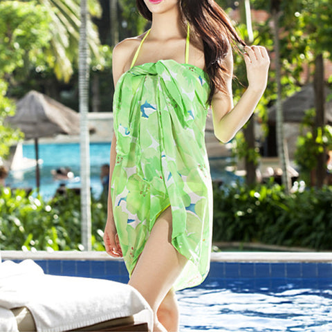 Beach Skirt Multiple Wears Swimwear Swimsuit Bathing Suit  green - Mega Save Wholesale & Retail - 1