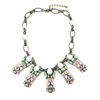 New Item Hot Sold Resin Zircon Fake Collar Necklace Ornament   green - Mega Save Wholesale & Retail