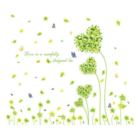 Green Love Tree Removeable Wallpaper Wall Sticker - Mega Save Wholesale & Retail - 1