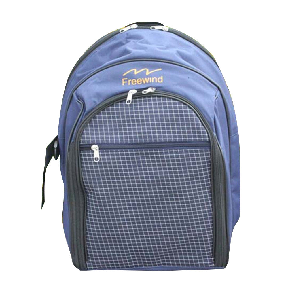 Backpack 30 PC Picnic Set for Four People Dark Blue - Mega Save Wholesale & Retail