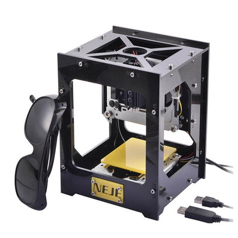 300 MW USB DIY Laser Engraver, Picture Marker & CNC Printer in Black Compatible Design - Mega Save Wholesale & Retail