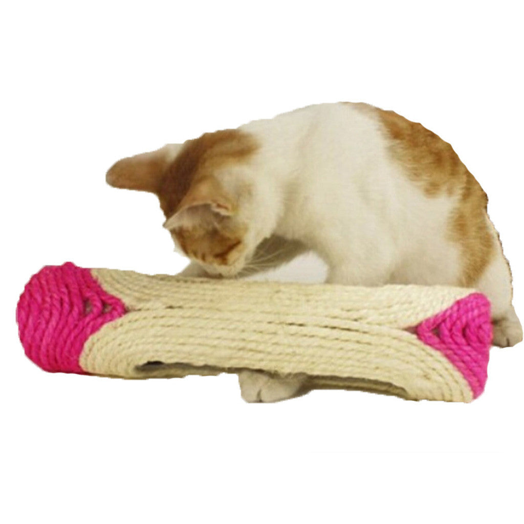 Long Roller Three Squeaky Ball Sisal Hemp Cat Scratch Board Cat Toy Tease Ball Feather Ball Pet Toy - Mega Save Wholesale & Retail