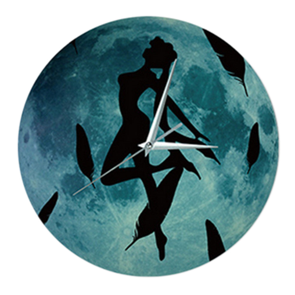 Noctilucent Wolf Simple Wall Clock   cartoon figure - Mega Save Wholesale & Retail - 1