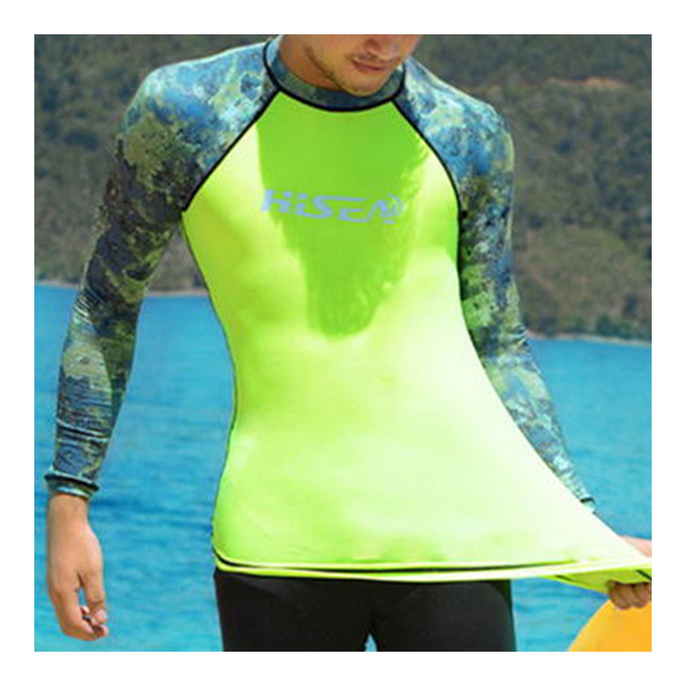 S060 S061 S062 S063 Diving Suit Wetsuit Fishing Surfing   camouflage+fluorescent green   S - Mega Save Wholesale & Retail - 1