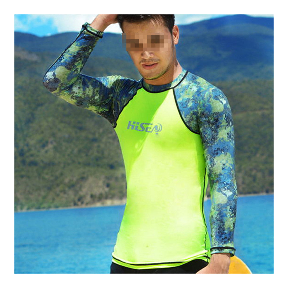 S060 S061 S062 S063 Diving Suit Wetsuit Fishing Surfing   camouflage+fluorescent green   S - Mega Save Wholesale & Retail - 2