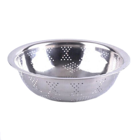 Wash rice wholesale stainless steel pots rice sieve flanging Kitchen Drain vegetables basin basin basin Wash rice bowl fruit  32CM - Mega Save Wholesale & Retail - 1