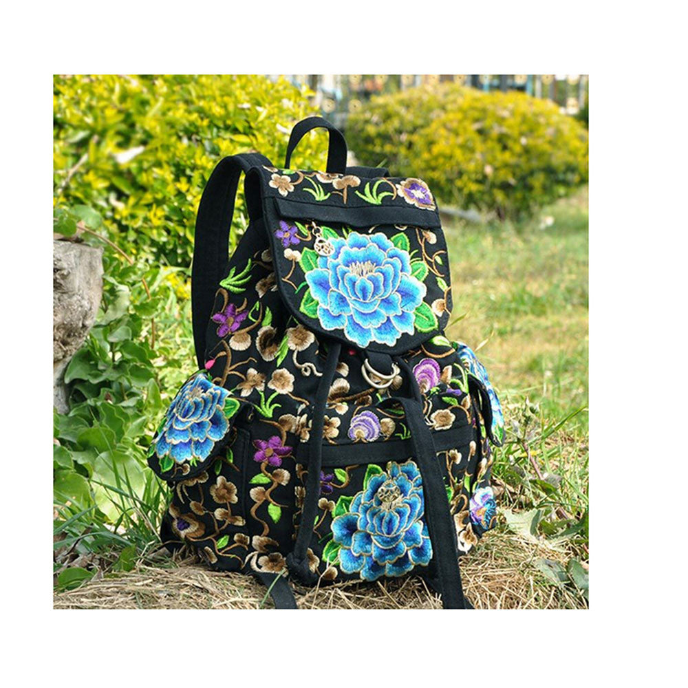 Spring Festival's Gift Yunnan Fashionable National Style Embroidery Bag Stylish Featured Shoulders Bag 93048   peony flower with random color - Mega Save Wholesale & Retail - 2