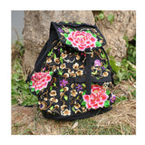 Spring Festival's Gift Yunnan Fashionable National Style Embroidery Bag Stylish Featured Shoulders Bag 93048   peony flower with random color - Mega Save Wholesale & Retail - 3