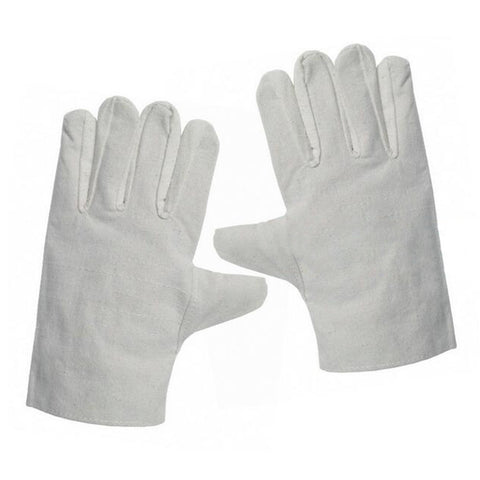 one pair Welding Work Universal Protection Gloves Canvas Full Cotton 24cm Grey N5one8 - Mega Save Wholesale & Retail