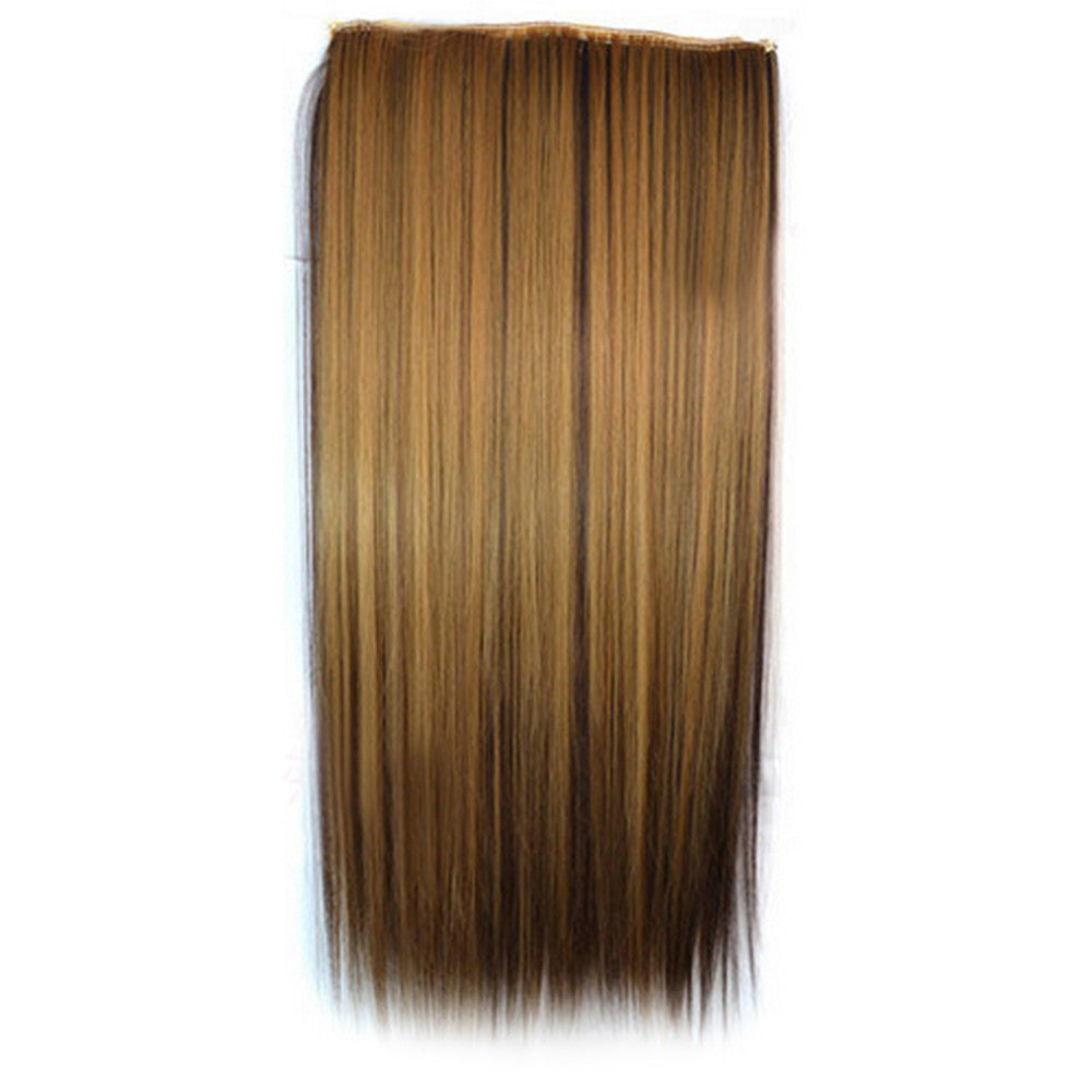 Ivisible Hair Weft Long Straight Hair Extension 5 Cards Wig 55S-27H4#