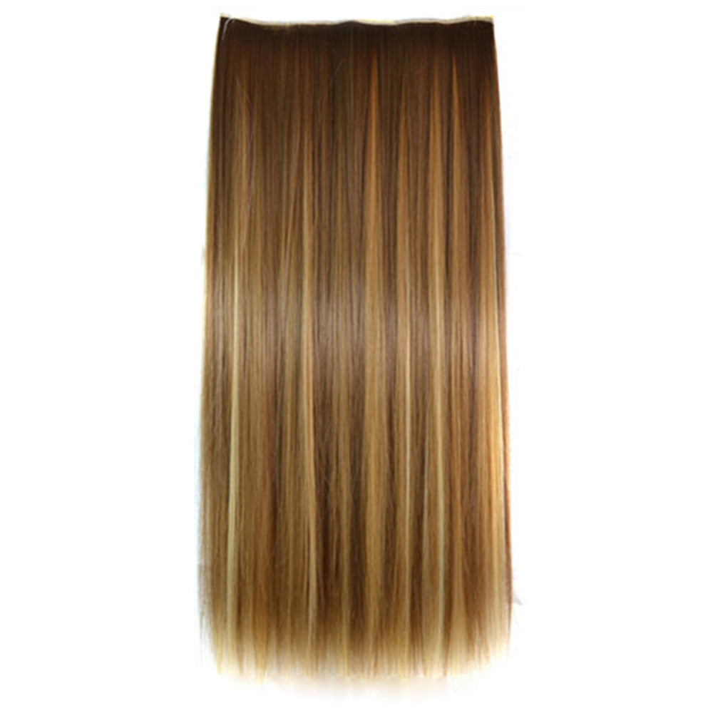 Ivisible Hair Weft Long Straight Hair Extension 5 Cards Wig 5S- 6H27H613#