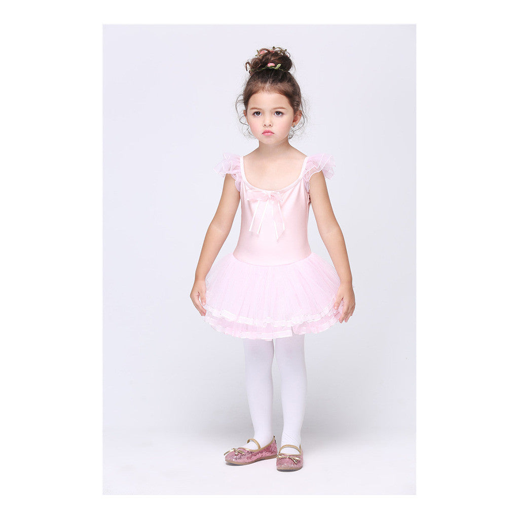 Children Girl Ballet Dancing Dress Diamante Bowknot Backless Dress Ball Gown - Mega Save Wholesale & Retail