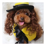 Pet Dog Clothes Cloak Wig Hat Suit   PF41 yellow   S - Mega Save Wholesale & Retail - 2