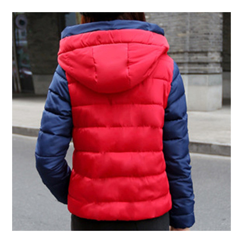 Thin Light Down Coat Woman Hooded Slim Short   red   M - Mega Save Wholesale & Retail - 3