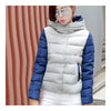 Thin Light Down Coat Woman Hooded Slim Short   grey   M - Mega Save Wholesale & Retail - 2