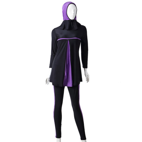 Musilim Swimwear Swimsuit Burqini hw10c   purple   XS - Mega Save Wholesale & Retail - 1