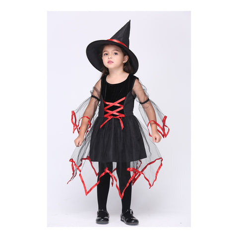 Children Costume Cosplay Kid Garment Gauze Witch Dancing Dress - Mega Save Wholesale & Retail