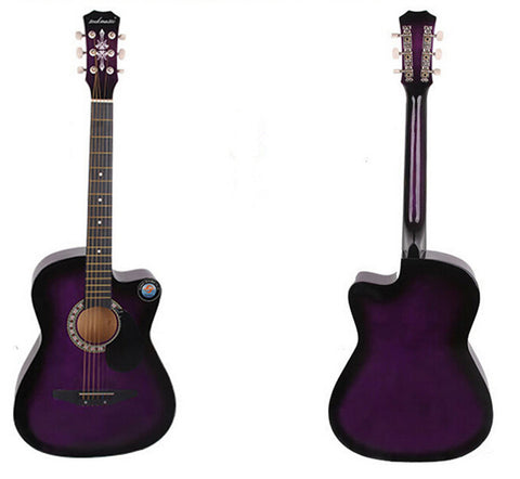 New Professional Acoustic Callaway Folk 38 inch  Guitar STAGE ESSENTIALS Purple - Mega Save Wholesale & Retail
