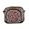 Yunnan National Style Embroidery Bag Embroidery Canvas Messenger Bag Woman Coin Case Mobile Phone Bag   small zamioculcas zamiifolia - Mega Save Wholesale & Retail - 1