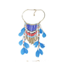 European Fashionable Big Brand Necklace Exaggerated Feather Tassel Necklace Vintage Elegant Temperament   dark blue - Mega Save Wholesale & Retail - 2