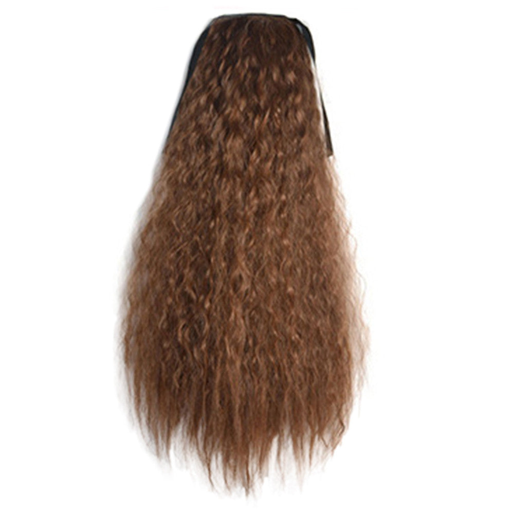 Wig Corn Perm Lace-up Horsetail light brown - Mega Save Wholesale & Retail - 1