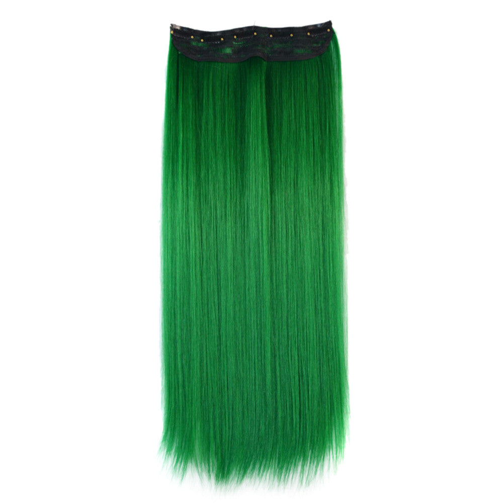 Wholesale color wig hair extension piece a five-card straight hair gradient hair piece long straight hair piece hair extension   GREEN GRASS - Mega Save Wholesale & Retail - 1