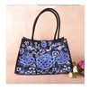 Bohemian Woman's Bag National Style Embroidery Single-shoulder Bag Embroidery Handbag Big Bag Factory(Big Szie)    blue and white flower - Mega Save Wholesale & Retail - 1