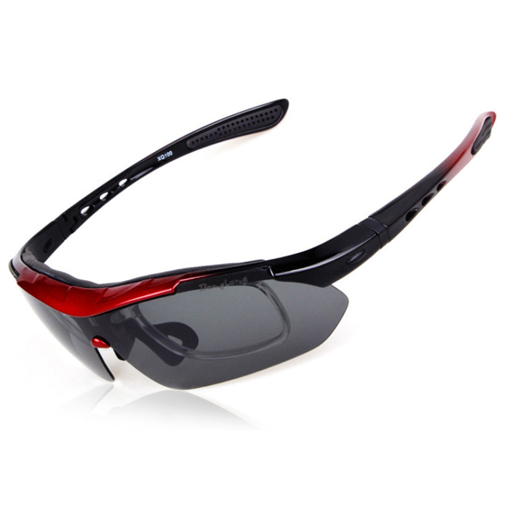 XQ-100 Polarized Sunglasses Changeable Riding Sports    red