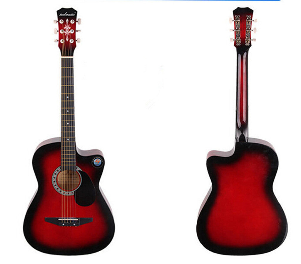 New Professional Acoustic Callaway Folk 38 inch  Guitar STAGE ESSENTIALS Red - Mega Save Wholesale & Retail