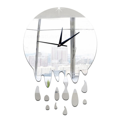 Acrylic Wall Clock Mirror Decoration   silver without scale - Mega Save Wholesale & Retail