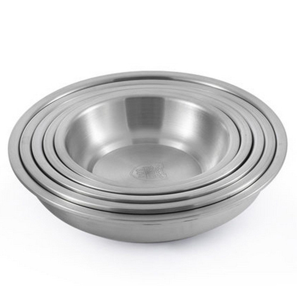 304 Stainless Steel Thick Deep Round Plate 20cm - Mega Save Wholesale & Retail - 5