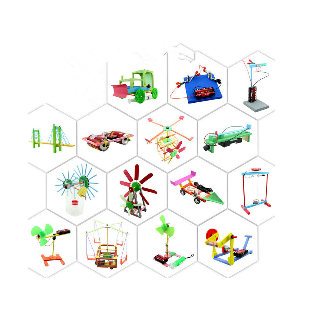 Gift Colorful Box 10-12 Children Creative DIY Small Handwork Scientific Experiment Toy - Mega Save Wholesale & Retail - 2