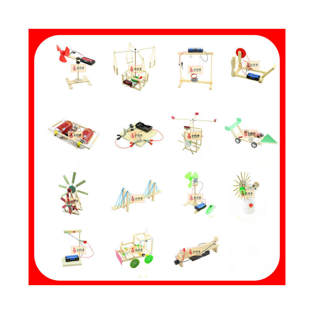 Gift Colorful Box 10-12 Children Creative DIY Small Handwork Scientific Experiment Toy - Mega Save Wholesale & Retail - 3