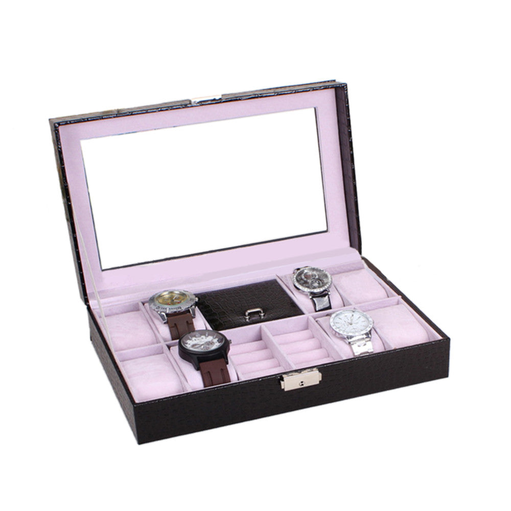 PU Accesorry Watch Box Multifunctional Watch Storage Box - Mega Save Wholesale & Retail