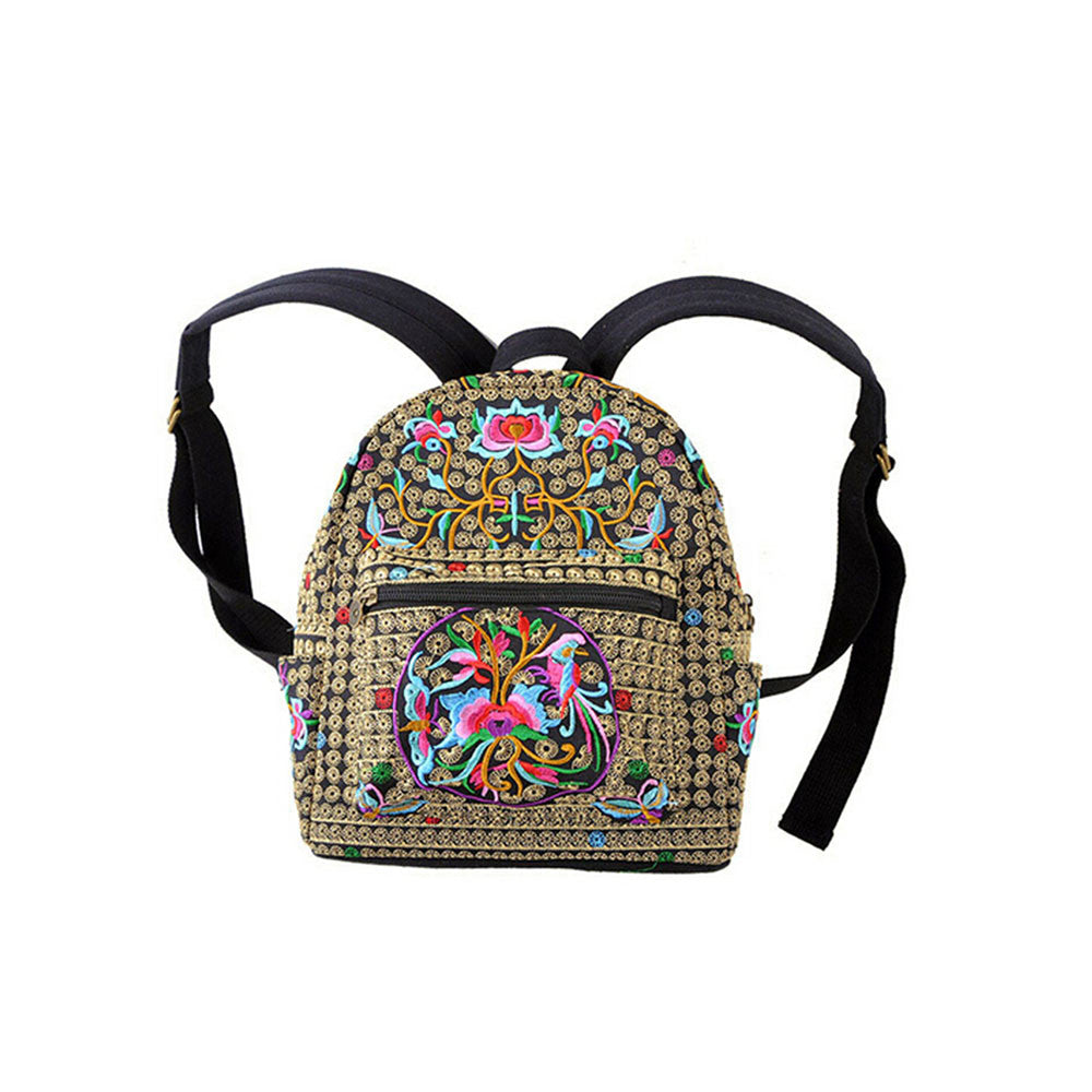 New Yunnan Fshionable National Style Embroidery Bag Stylish Featured Shoulders Bag Fshionable Woman's Bag Bulk   copper crash tree - Mega Save Wholesale & Retail - 1