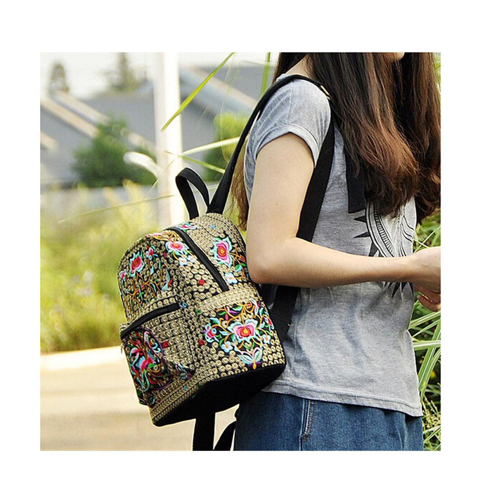 New Yunnan Fshionable National Style Embroidery Bag Stylish Featured Shoulders Bag Fshionable Woman's Bag Bulk   copper crash tree - Mega Save Wholesale & Retail - 3