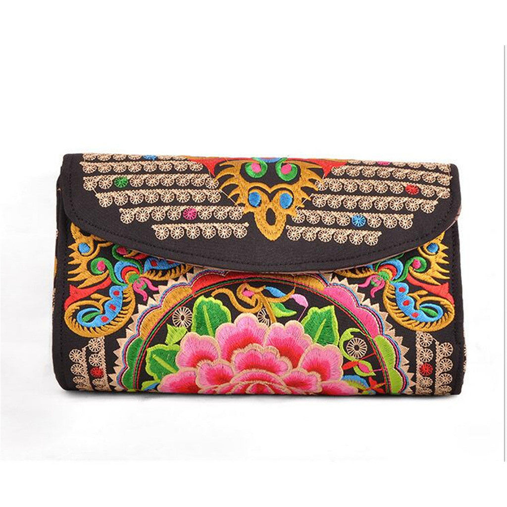 Yunnan National Style Woman's Emboridery Evening Banquet Bag Handbag Chinese Style Banquet Bag   zamioculcas zamiifolia butterfly - Mega Save Wholesale & Retail - 1