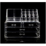 Clear Acrylic Makeup Cosmetics Jewelry Organizer Display Box Storage - Mega Save Wholesale & Retail - 1