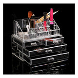 Clear Acrylic Makeup Cosmetics Jewelry Organizer Display Box Storage - Mega Save Wholesale & Retail - 2