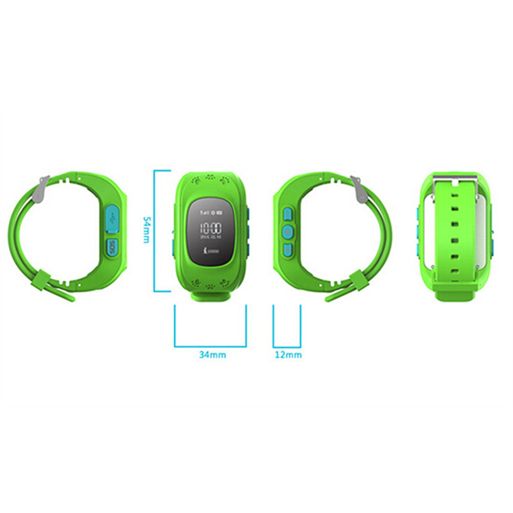 Kid Wrist GPS Tracker Real-time Positioning Tracker Watch SOS   blue - Mega Save Wholesale & Retail - 5