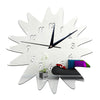 Wall Mirror Sticking DIY Creative Wall Clock    silver - Mega Save Wholesale & Retail