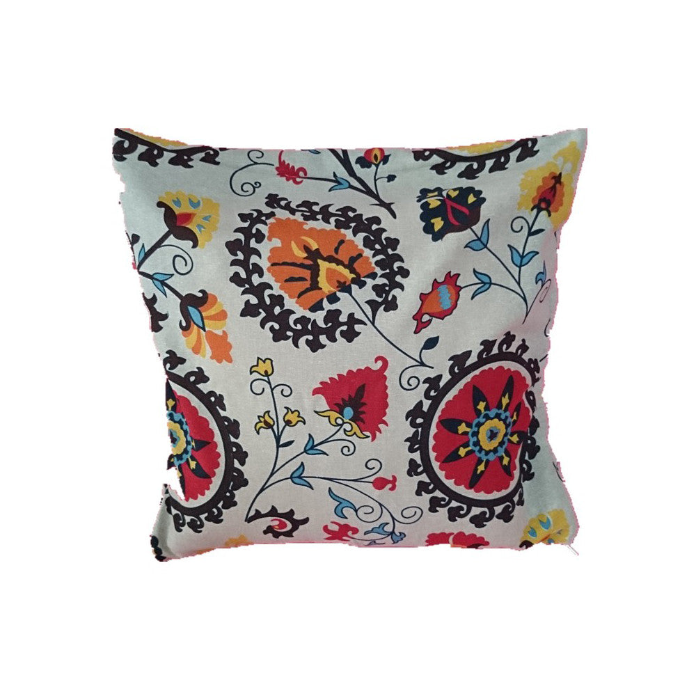 "Linen Decorative Throw Pillow case Cushion Cover 18"" x 18"" Abstract Flowers - Mega Save Wholesale & Retail"